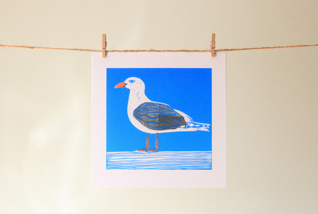 'Sussex Seagull' greetings card