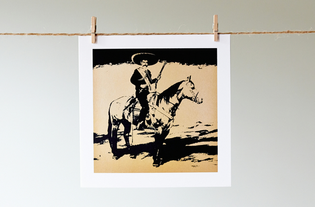 'Gold Zapata' greetings card