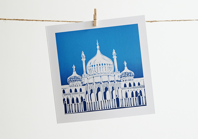 'Brighton Pavilion' greetings card