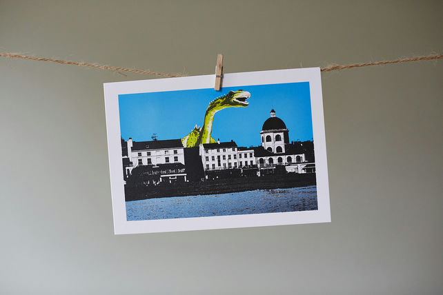 'Dippy and Dome' greetings card