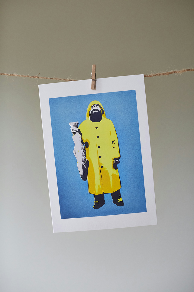 'Fisherman' greetings card