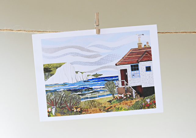 'Coastguard Cottage' greetings card