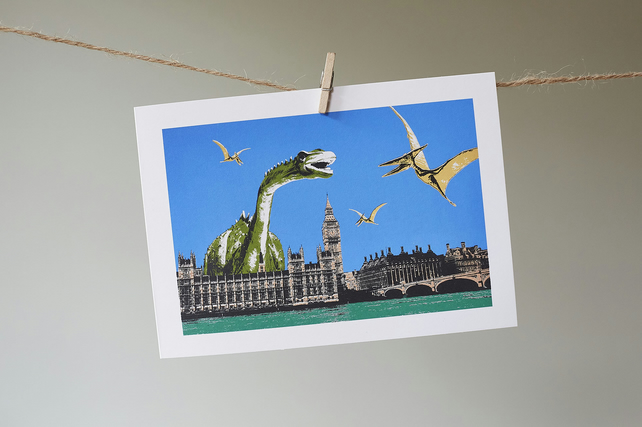 Westminster Dinosaurs greetings card