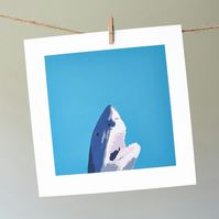 North Laine Shark greetings card
