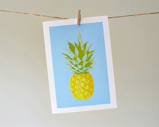 'Totes Trops Pineapple' greetings card