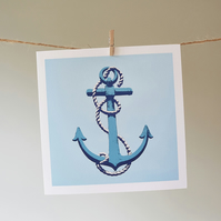 Anchor greetings card