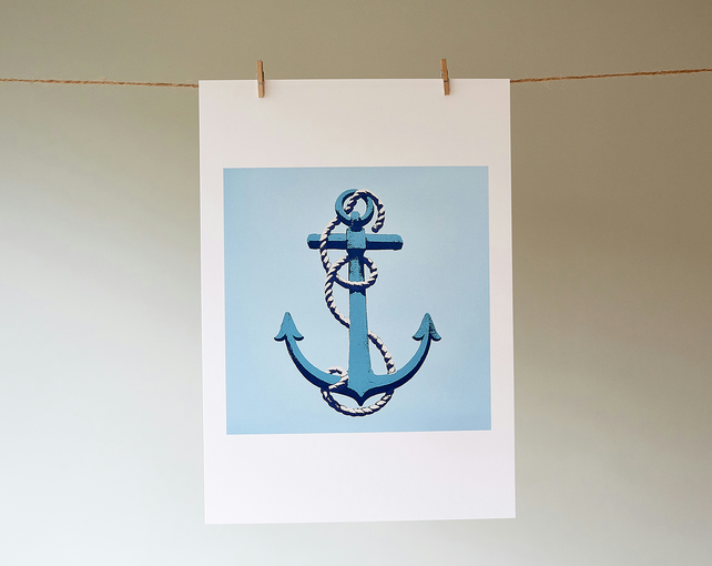 'Anchor' giclée print from an original screen print