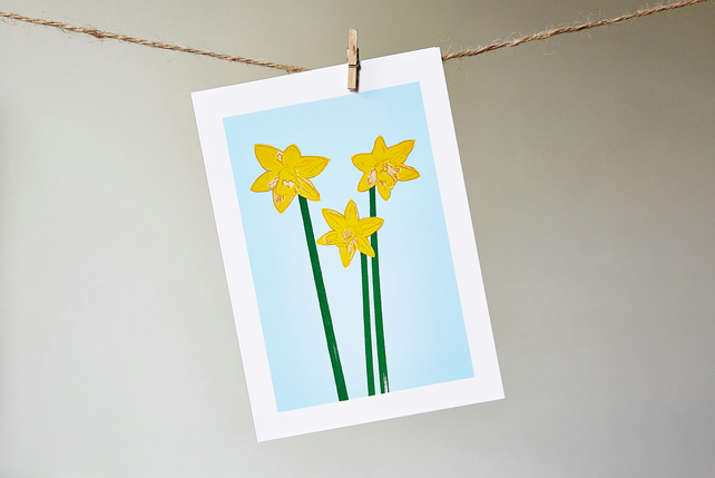 Daffodil greetings card