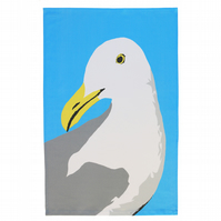 Douglas Gull seagull tea towel