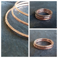 SALE Stacking copper rings SALE