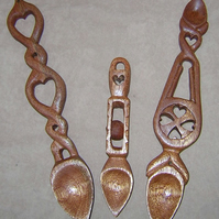 carved wooden welsh lovespoon,love spoon,wedding, anniversary, INSCRIBED FREE !