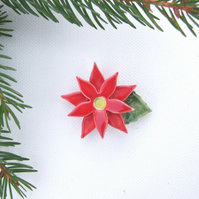 Poinsettia Brooch, Christmas accessory
