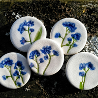Forget-me-not brooch, gift for Mother's Day