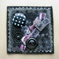 black lace brooch
