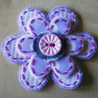 little lilac flower brooch