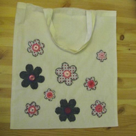 recycled flowers eco tote bag