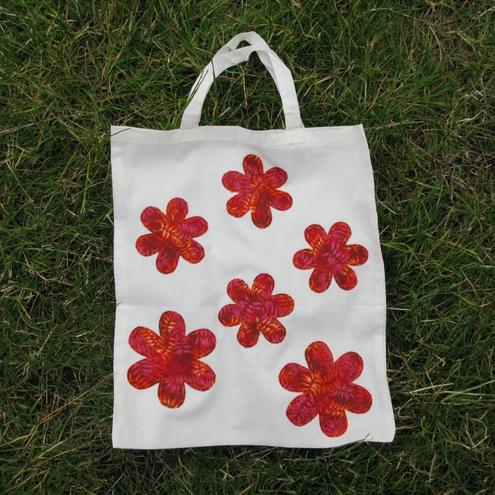 retro flower eco bag