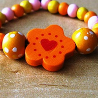 PIF sweet flower and heart bracelet: pay it forward
