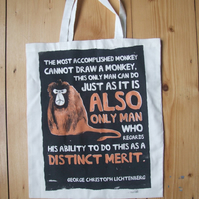 'Clever Monkey' tote bag