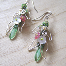 'Flower Fairy' – Woven bead earrings inspired by nature