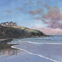 Reflections at Poldhu Beach - ORIGINAL PAINTING