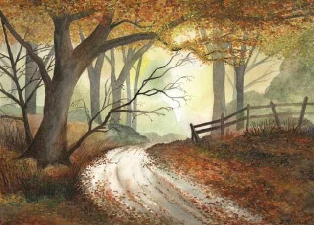 Autumn Mist - ORIGINAL PAINTING