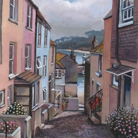 Bethesda Hill toward Porthminster - ORIGINAL PAINTING