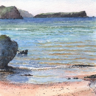 Polurrian Cove toward Mullion Island - ORIGINAL PAINTING