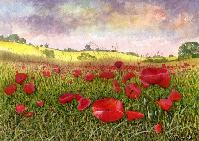 Poppy Meadow - ORIGINAL PAINTING
