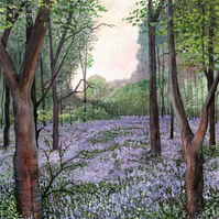 Bluebell Wood, Upper Pendeford - ORIGINAL PAINTING