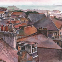 from the rooftops of St Ives - ORIGINAL PAINTING