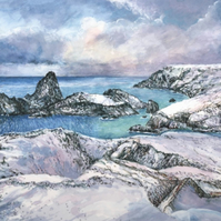 Snow at Kynance Cove - ORIGINAL PAINTING