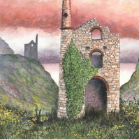 Engine Houses By The Sea - ORIGINAL PAINTING