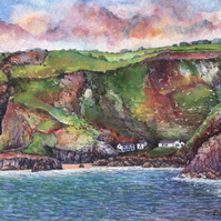Tor Balk & Steeple Rock, Kynance Cove - ORIGINAL PAINTING