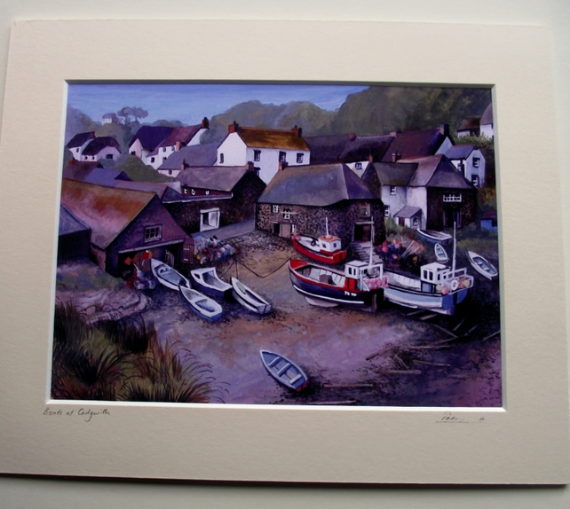 PRINT - Boats at Cadgwith