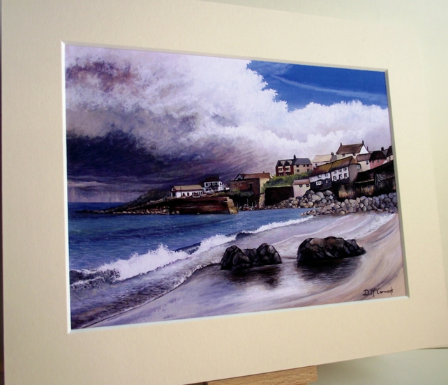 PRINT - Storm Brewing, Coverack