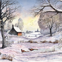 Winter Meadow - ORIGINAL PAINTING