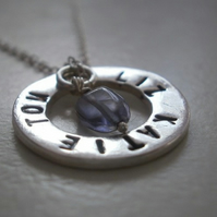 Silver Personalised Name & Word Pendant