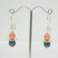 Amethyst and Coral Earrings