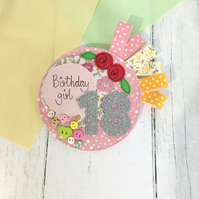 18th Embroidered Birthday Rosette Badge