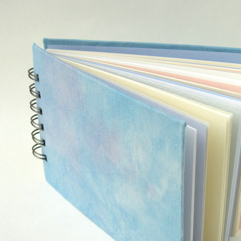 Handmade Sketchbook / Journal in Sky Blue