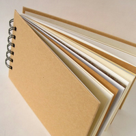 Kraft Cover Journal with mixed paper pages