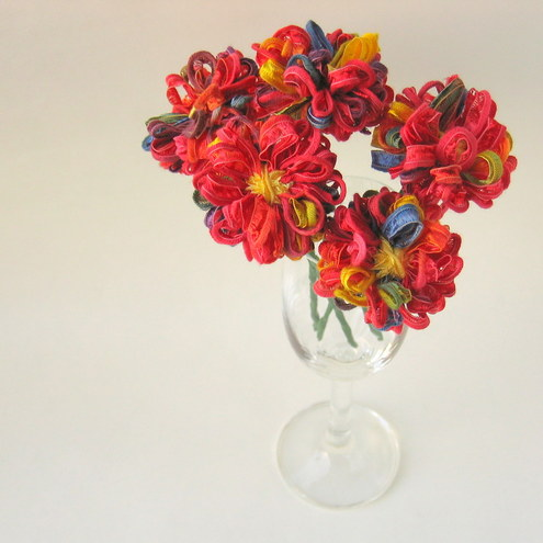 Rainbow Ribbon Mini Flowers
