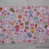 Padded Cotton Baby Record Book Cover (NHS Red Book)