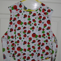 Child's Cotton Reversible Tabbard Ladybirds