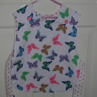 Child's Reversible Cotton Tabbard Butterflies