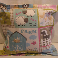 Farm Animals Cotton Cushion
