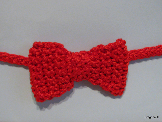 Boys Crochet Bow Tie in Red