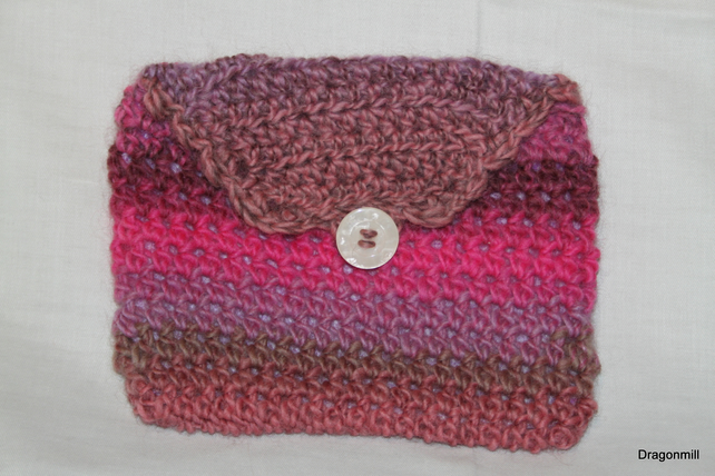 Crochet Make Up Bag with Cotton Lining