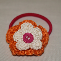 Crochet Flower Hair Bobble